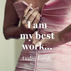 Quote About Confidence - Audre Lorde Audre Lorde Quotes, Christiane Northrup, What Is Feminism, Girls Run The World, Motivational Quotes, Inspirational Quotes, Empowerment Quotes, Confidence Quotes, Work Quotes