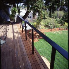 """wire Fences"" Design ideas w/o top railing to obscure."