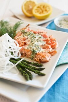 Paleo Salmon Taki with Creamy Lemon Dill Sauce Recipe