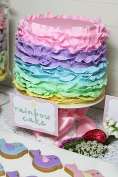 pastel rainbow cake is gorgeous