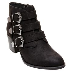 Betseyville Women's Supagal Triple Buckle Ankle Boots -