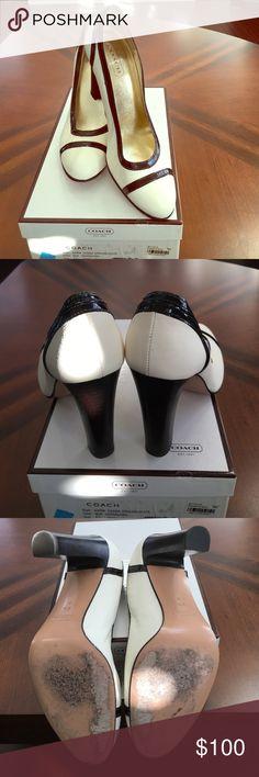 Coach Off White Pumps Coach Cassia  Pumps in original box. Slightly worn Coach Shoes Heels