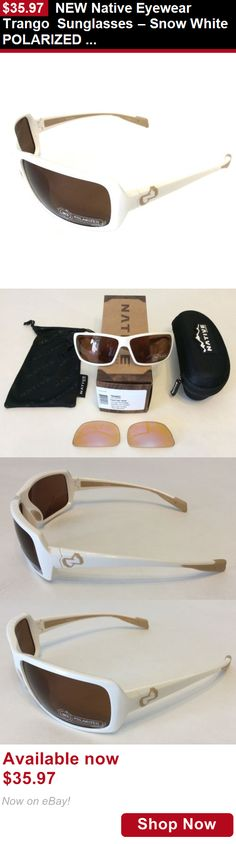 Unisex accessories: New Native Eyewear Trango Sunglasses – Snow White Polarized N3 Brown Xtra Lens BUY IT NOW ONLY: $35.97