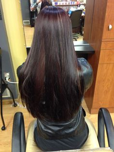 Red with purple tint and blonde highlights.