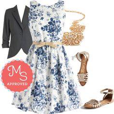 Soak Up the Sun Belt Dress by modcloth on Polyvore featuring polyvore, fashion, style, Spring, outfit, floral and modcloth