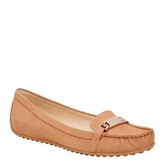 HIGHLIGHT - Easy to slip on and comfortable to wear our 'Highlight' loafers are soft and lush in textured nubuck and finished with gold hardware detailing. Gold Hardware, Nine West, Dress Up, It Is Finished, Loafers, Slip On, Flats, Highlight, Lush