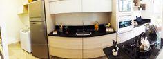 Apartamento 2 Quartos Decorado Terra Mundi Parque Cascavel - Cozinha Americana e Área de Serviço