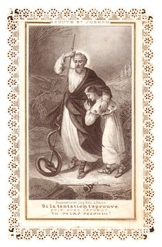 LISTEN TO ST. JOSEPH: If temptation tries you, pray with fervor, you will be succored!