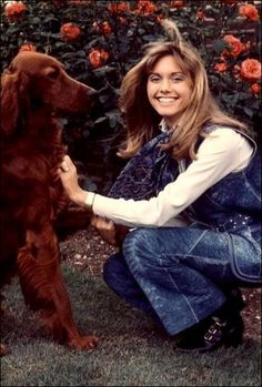 Olivia Newton John with Jackson. She has a song about him on her Clearly Love album