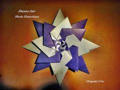 Origami, Fleurogami e estrelas: Estrela Zhanna -  Maria Sinayskaya
