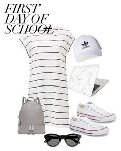 """School Dazes"" by tlo2001 ❤ liked on Polyvore featuring Converse, Recover, Michael Kors, adidas and Givenchy"