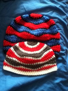 Crochet brain waves beanie pattern by Playin hooky designs on ravelry.com adult and child sizes
