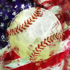 American Baseball Abstract Canvas Print / Canvas Art by David G Paul Baseball Canvas, Baseball Painting, Sports Painting, Baseball Art, Painting For Kids, Baseball Drawings, Abstract Canvas, Canvas Art, Canvas Prints