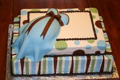 Two Tier Belly Cake - My first two tiered belly cake.  Was fun, was BIG!  Was a hit at the shower.