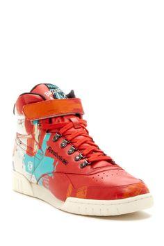Reebok x Basquiat Exofit Plush High Top Sneaker
