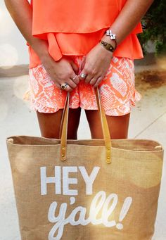 Hey y'all! Cute tote for long summer nights or the day at the lake/beach! #prep #yall #southern