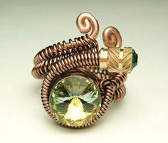 Bullet Casings steampunk wire ring  steampunk jewelry par keoops8 #steampunk #ring #jewelry