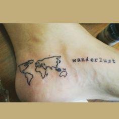 #Tattoo #mapstattoo #wanderlust