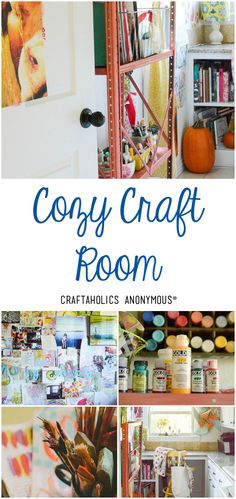 Such a warm and cozy craft room! See the entire tour at Craftaholics Anonymous®