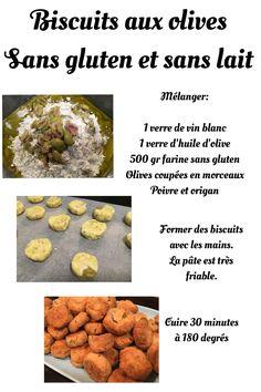 Biscuits aux olives sans gluten et sans lait