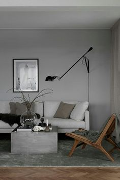 New living room grey walls brown couch floors Ideas Living Room White, Living Room Grey, Living Room Sofa, Living Room Interior, Home Living Room, Living Room Decor, Interior Livingroom, Apartment Living, Decoration Inspiration
