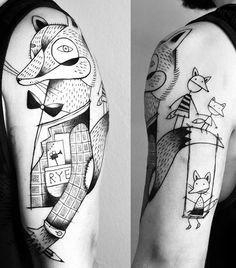 Miriam Frank fox tattoo