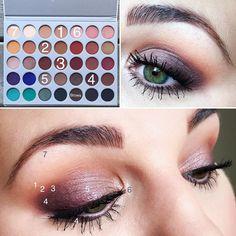 Smokey Eye @morphebrushes X @jaclynhill Eyeshadow Palette 1. M.F.E.O.- transition shade 2. Pooter- Slightly above crease 3. Roxanne-…