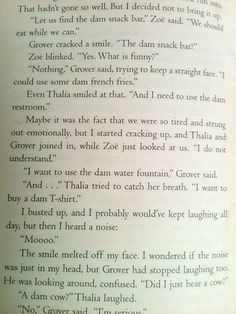 One of the best moments in Percy Jackson!