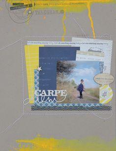 """ Carpe Diem "" une page inspiration de @marlenemenard de la #kesiteam. #kesiart #scrapbooking."