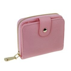 Women PU Leather Slim Wallet Card Holder Coins Purse Handbag with Zipper Pocket >>> Find out more details by clicking the image : Handbag Clutches