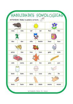 Speech Language Pathology, Speech And Language, Phonological Awareness, Class Activities, Teaching Spanish, Reading Comprehension, Speech Therapy, Phonics, Literacy