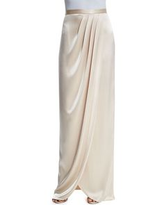 Gowns at Neiman Marcus Kebaya Lace, Kebaya Hijab, Kebaya Dress, Satin Pleated Skirt, Draped Skirt, Modest Fashion, Skirt Fashion, Fashion Dresses, Long Pink Skirt