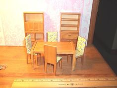 9 PIECE MODERN DINING ROOM SET - DOLL HOUSE MINIATURE in Dolls & Bears, Dollhouse Miniatures, Furniture & Room Items | eBay