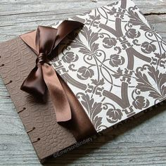 brown wedding guest book - i can make only with my paper from invitations