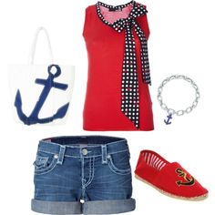Summertime sailor outfit