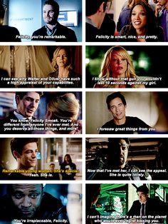 *everyone complimenting Felicity* <3 #Arrow