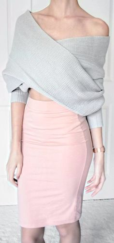 office style: how to wear skirts with knits