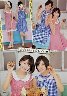 "HKT48 Sakura Miyawaki and Haruka Kodama ""Amai SakuHaru"" on Shonen Champion"