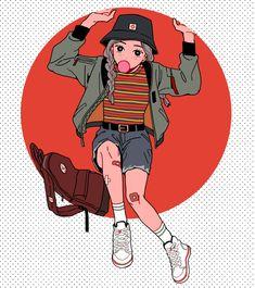 Pin on 자료 Aesthetic Drawing, Aesthetic Anime, Aesthetic Art, Cartoon Kunst, Cartoon Art, Psychedelic Art, Pretty Art, Cute Art, Manga Art
