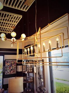New gold #chandeliers from @CurreyCo have arrived to the Cape Girardeau Southfork Lighting show room. #interiordesign