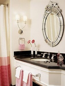 Great idea to add towel bar to the cabinet sink front