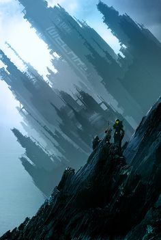 a city is blown to bits and sinks into the earth/sea Crash Landed by Skyrion