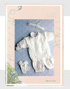 Stricken Baby :Breasted Jacket to fit chest cm ins) = (Fingering) ,