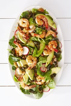 Roasted Shrimp & Poblano Saladgoodhousemag