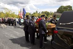 """Naval Yard security officer Richard """"Mike"""" Ridgell  killed in mass shooting takes final ride in DC today."""