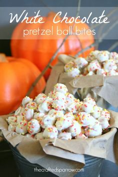 White Chocolate Pretzel Ball Bites thecraftedsparrow...