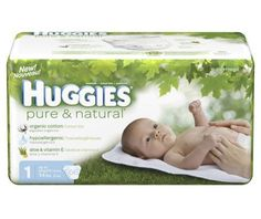 Huggies Pure & Natural Diapers, Size 1, 160-Count - http://www.intomars.com/huggies-pure-and-natural-diapers-size-1.html