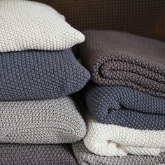 Moss Stitch Cotton Throws