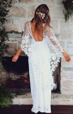 Verdelle, Grace Loves Lace. Boho wedding dresses #boho #wedding #dress