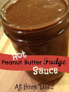 Hot Peanut Butter Fudge Sauce- perfect for ice cream sundaes, strawberries, or waffles #chocolate #dessert #sweet tooth.